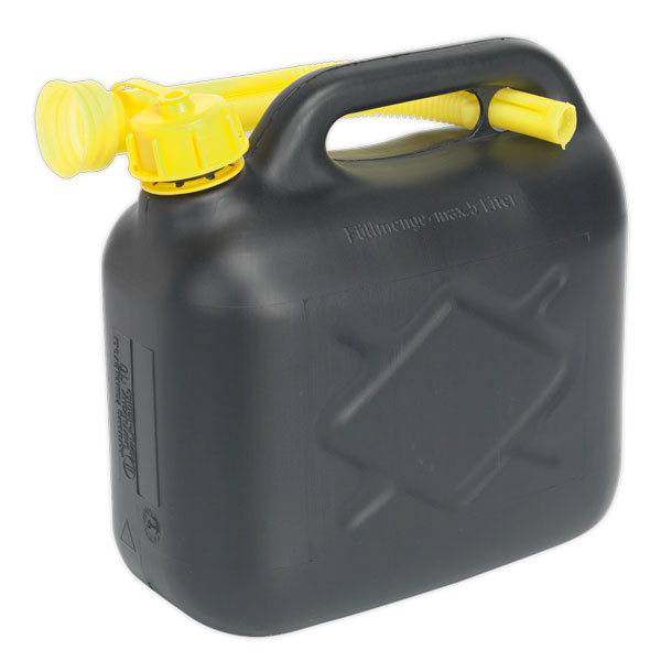Sealey JC5B Fuel Can 5ltr - Black