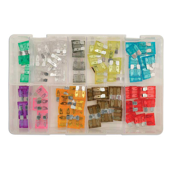 Assorted Standard Blade Fuses Box - 80 Pieces