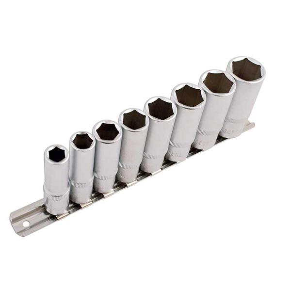"""Laser AF Deep Socket Set - 3/8""""D - 8pc"""