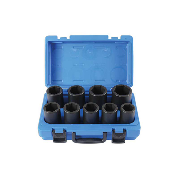 Laser Deep Impact Socket Set  - Metric 9pc