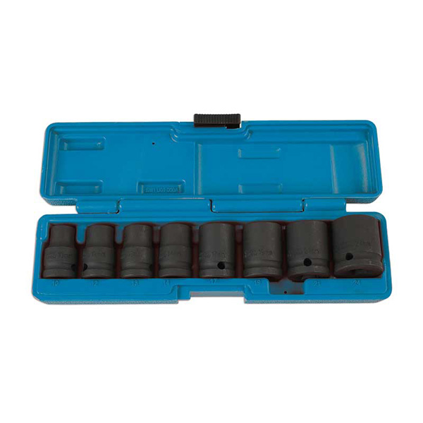 "Laser Socket Set - Impact  1/2""D 8pc"