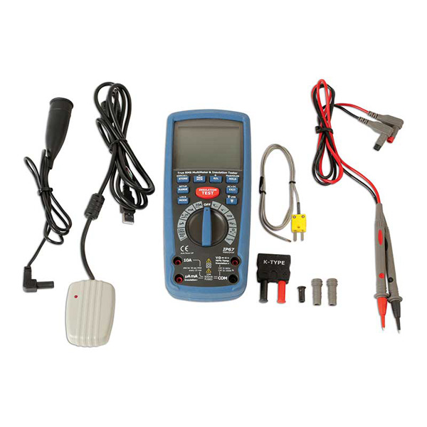Laser Insulation Resistance Multimeter CAT III