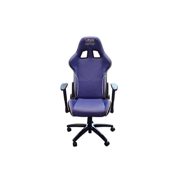 Laser Laser Tools Racing Chair - Blue/White Piping