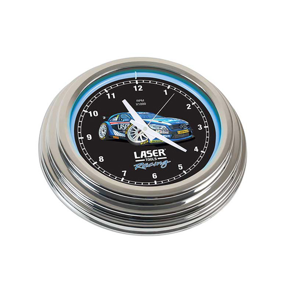 Laser Laser Tools Racing Neon Clock