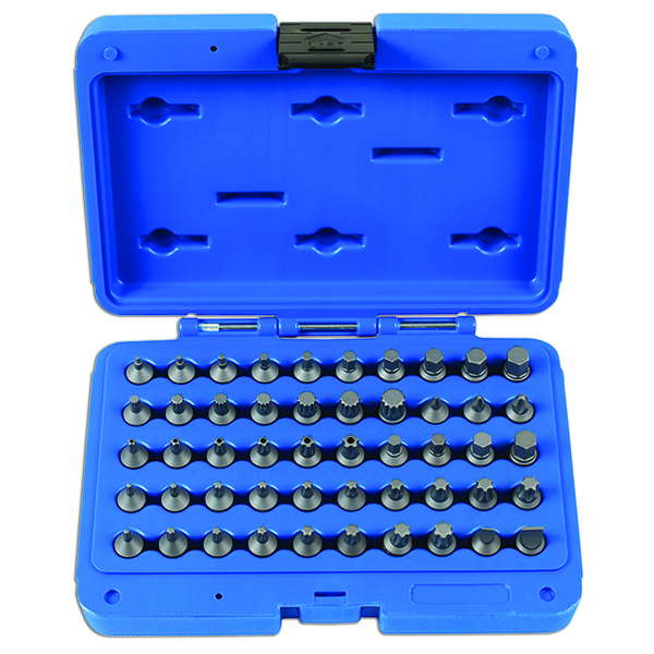 "Laser Stubby Bit Set 1/4""D 50pc"