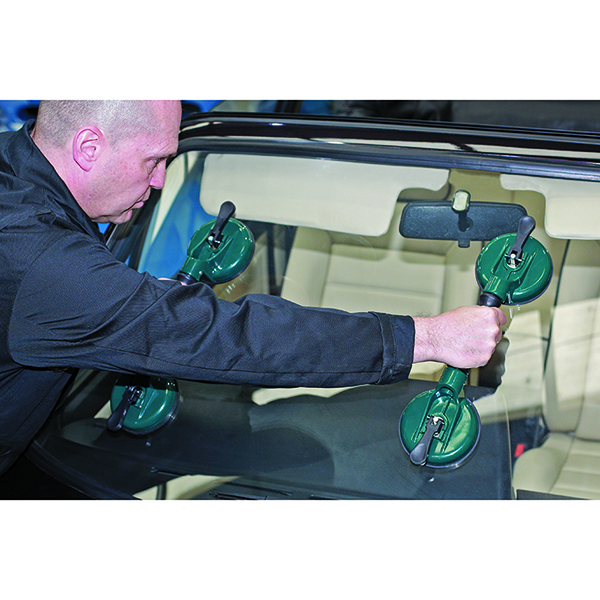 Laser Windscreen Twin Suction Cup Handle Set