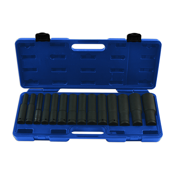 "Laser Extra Deep Impact Socket Set 1/2""D 14pc"