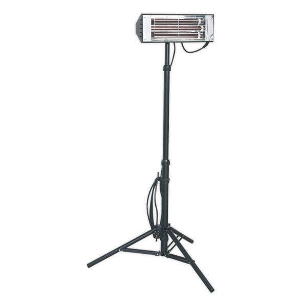 Sealey LP1500 Infrared Quartz Heater with Telescopic Tripod Stand 1500W/230V