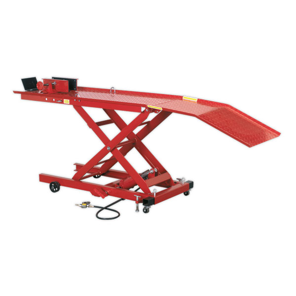 Sealey MC365A Motorcycle Lift Yankee 365kg Air