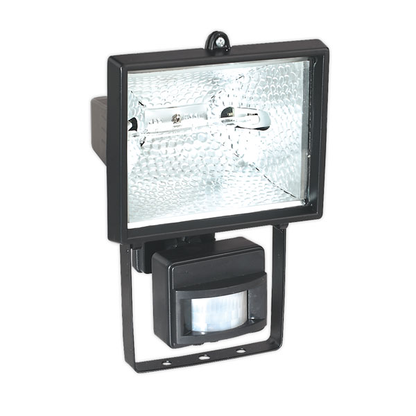 Sealey MD520C Tungsten/Halogen Floodlight Wall Bracket&PIR Sensor 500W/230V