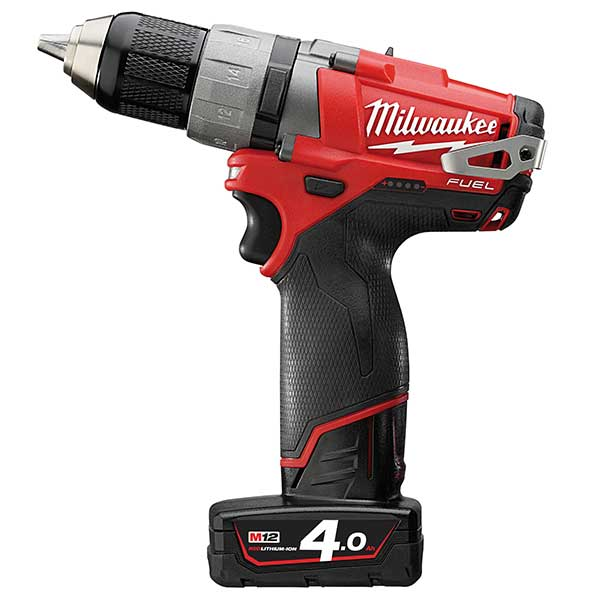 Milwaukee New M12 Fuel Compact Drill Driver (2 X 4.0Ah Li-Ion Batteries)