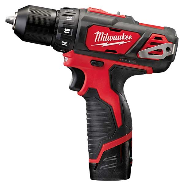 Milwaukee M12 Sub Compact Drill Driver (2 x 2.0ah Li-ion batteries, charger, BMC)