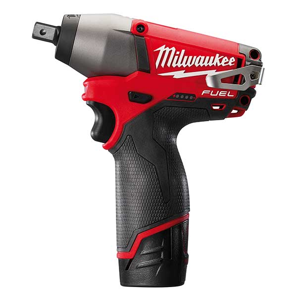 Milwaukee M12 Fuel Compact Impact Wrench 1/2 inch 2 x 2.0ah Li-ion batts charger
