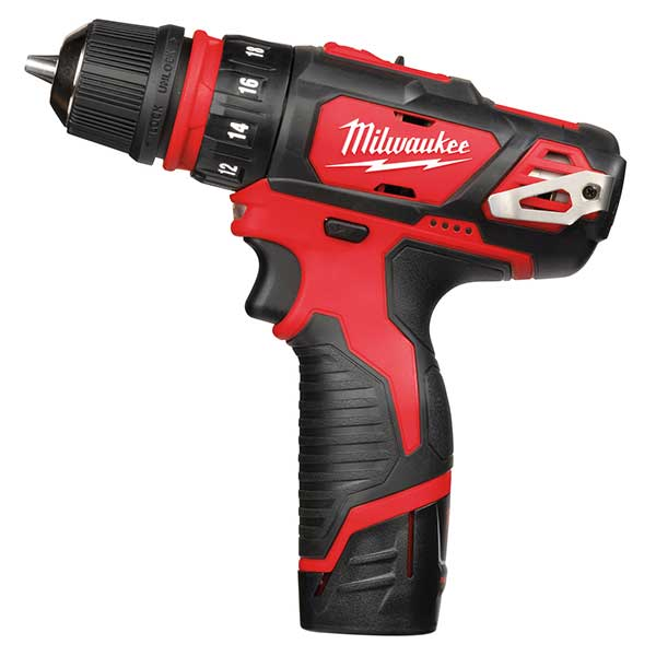 Milwaukee M12 4-In-1 Drill Driver Kit 2 X 2Ah Batts Charger 10Mm Chuck 3 Heads
