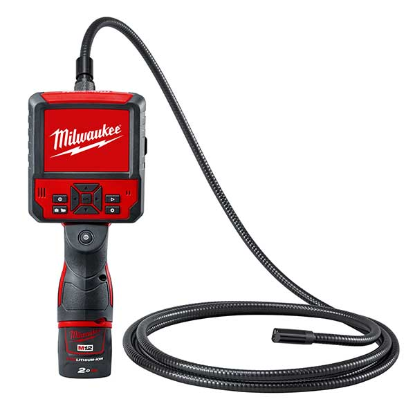 Milwaukee M12 Inspection Camera 9 Foot Cable (1 x 2.0ah Battery, Charger BMC)