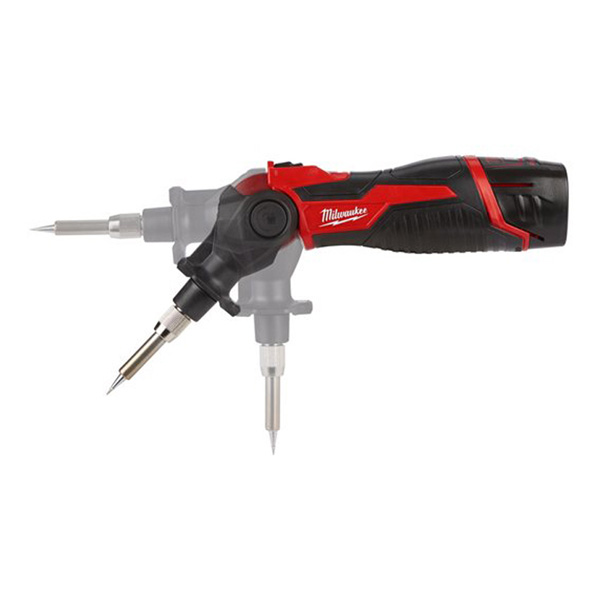 Milwaukee M12 Soldering Iron (incs 1 x Pointed Tip, 1 x Flat Tip)