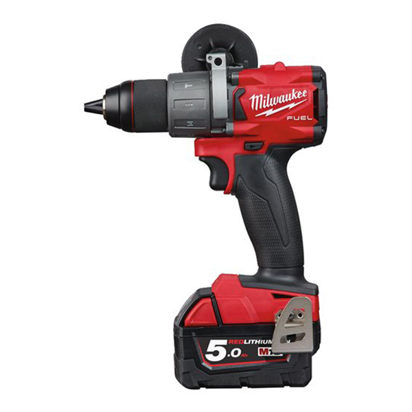 Milwaukee M18 FUEL Percussion Drill  (2 x 5.0ah batteries, fast charger, dynacase)
