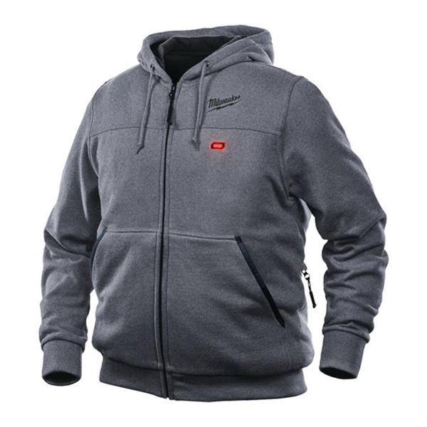 Milwaukee M12 Grey Heated Hoody  Size Large (Naked-no batteries or charger) NEW