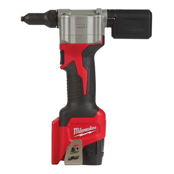 Milwaukee M12 Pop Rivet Gun Kit c/w 4 x Replacement Tips