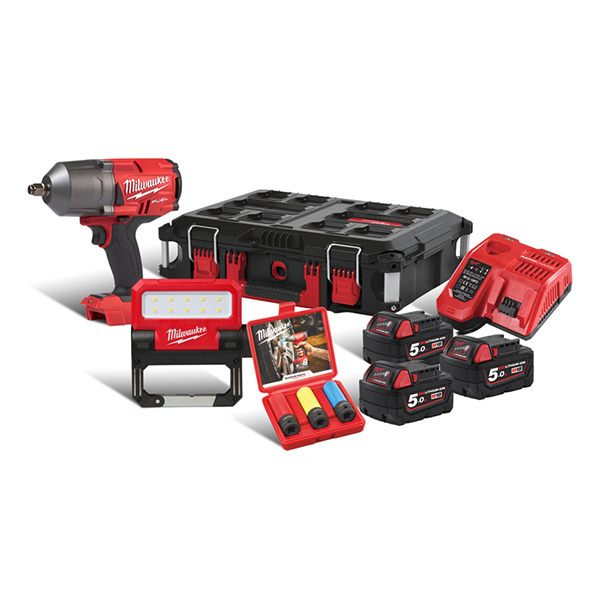 Milwaukee M18 Fuel Impact Wrench And Light Packout Kit