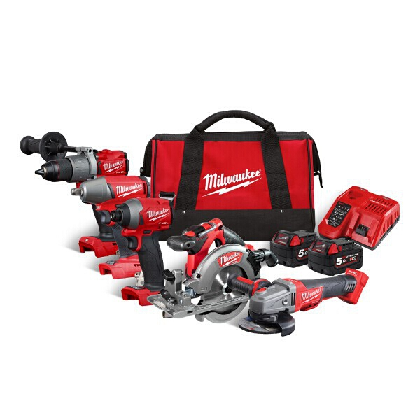 Milwaukee M18 Fuel 5 Piece Power Tool Pack(REDemption)