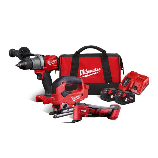 Milwaukee M18 3 Piece Combo Kit (REDemption)