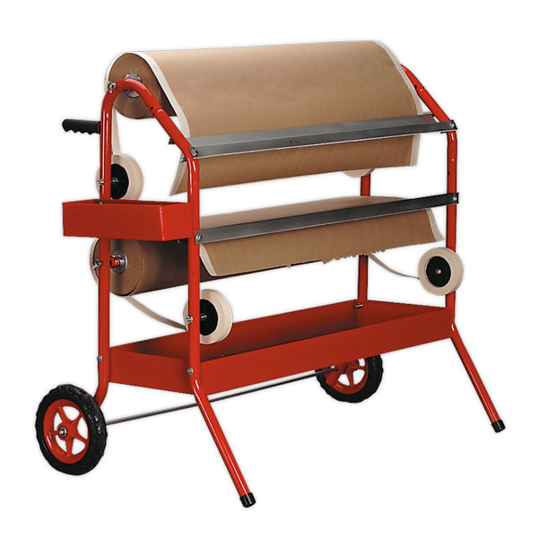 Sealey MK67 Masking Paper Dispenser 2 x 900mm Trolley