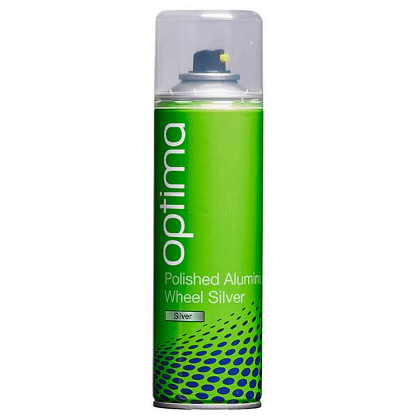Optima Polished Aluminium Wheel Silver Aerosol (300ml)