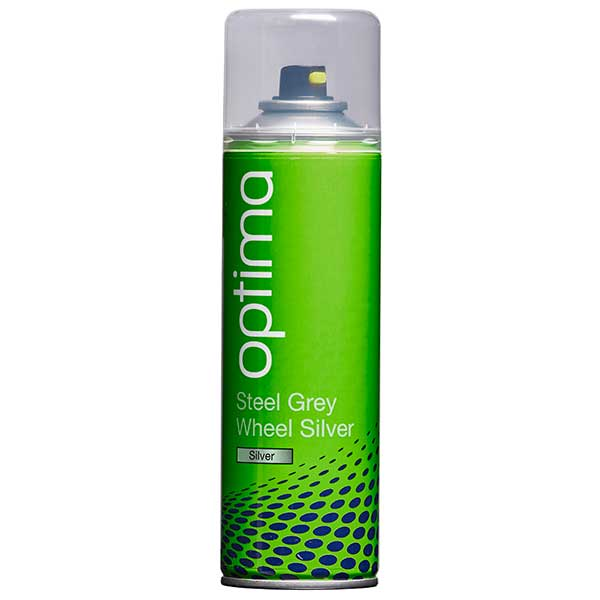 Optima Steel Grey Wheel Silver Aerosol (300ml)