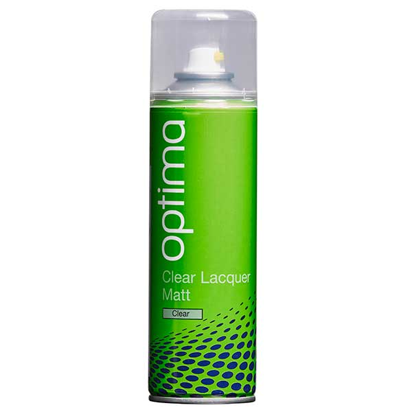 Optima Matt Clear Lacquer Aerosol (300ml)