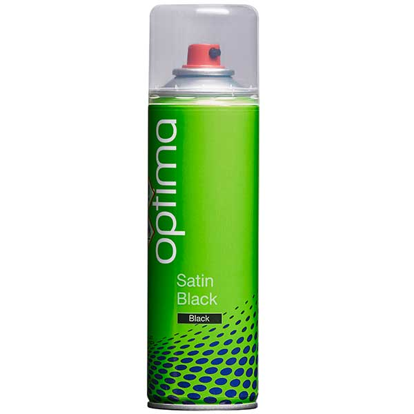 Optima Satin Black Aerosol (300ml)