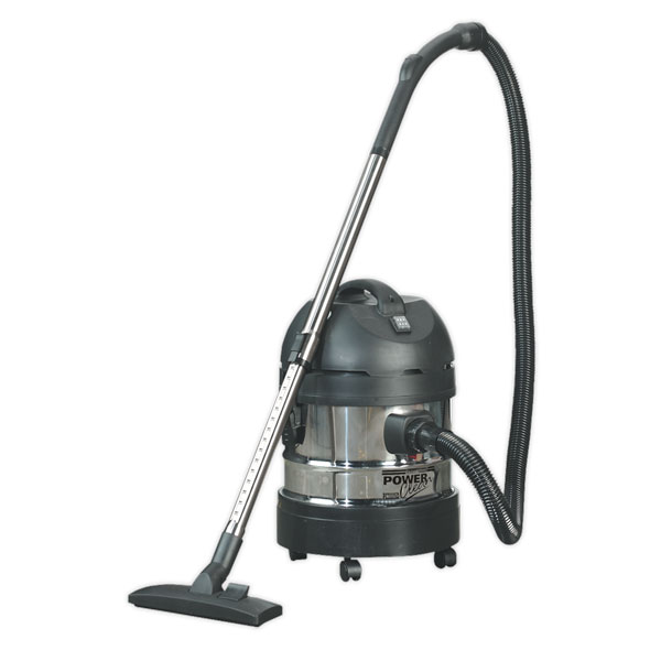 Sealey PC200SD Vacuum Cleaner Industrial Wet/Dry 20ltr 1250W/230V Stainless