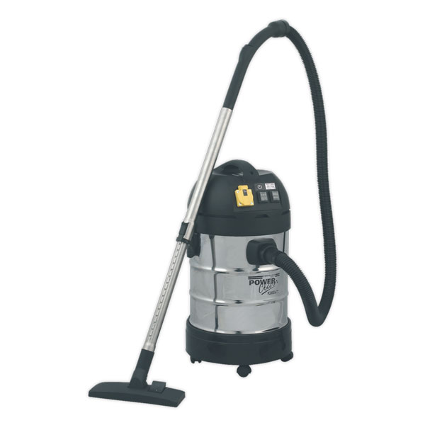 Sealey PC300SDAUTO Vacuum Cleaner Industrial 30ltr 1400W/230V Stainless Bin