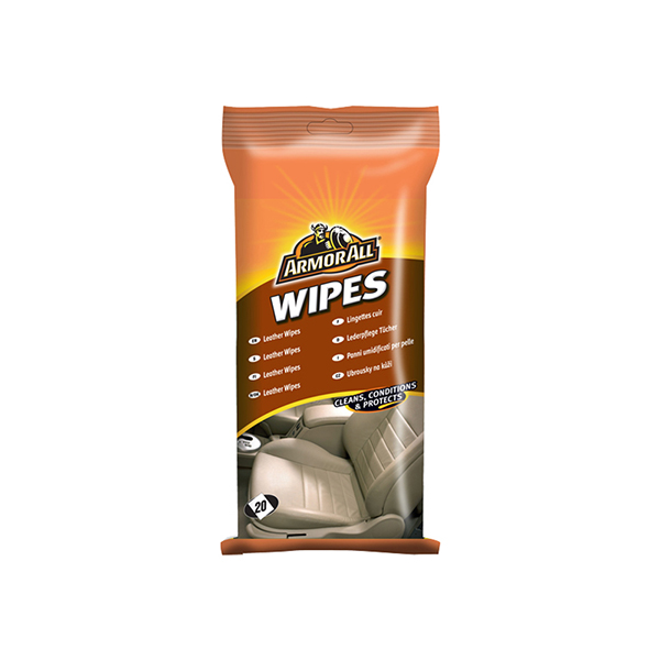 Armorall POUCH 20 LEATHER WIPES (FLOW WRAP)