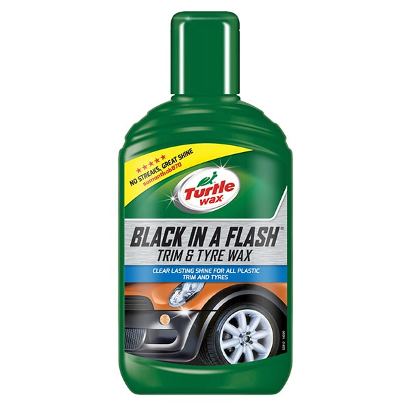 Turtlewax Black in a Flash Trim & Tyre Wax 300ml