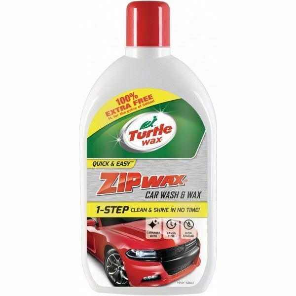 Turtlewax Zip Wax Car Wash & Wax – 1 Litre for the price of 500ml