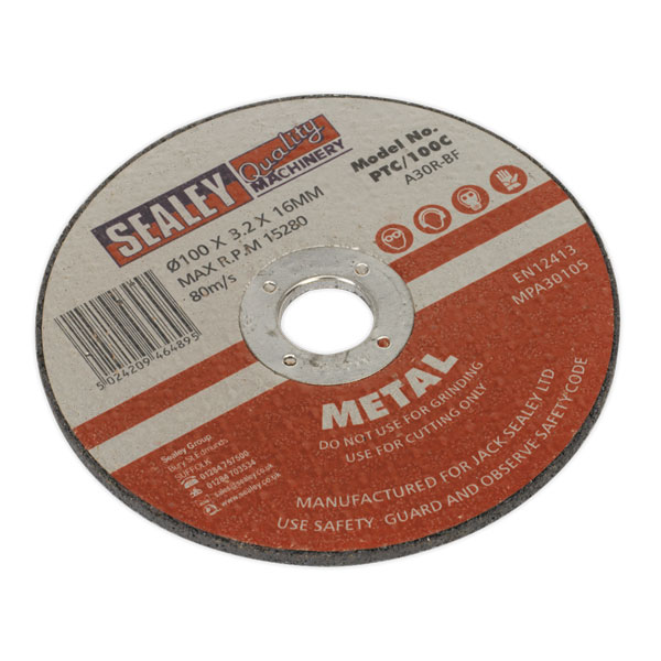 Sealey PTC/100C Cutting Disc 100 x 3 x 16mm