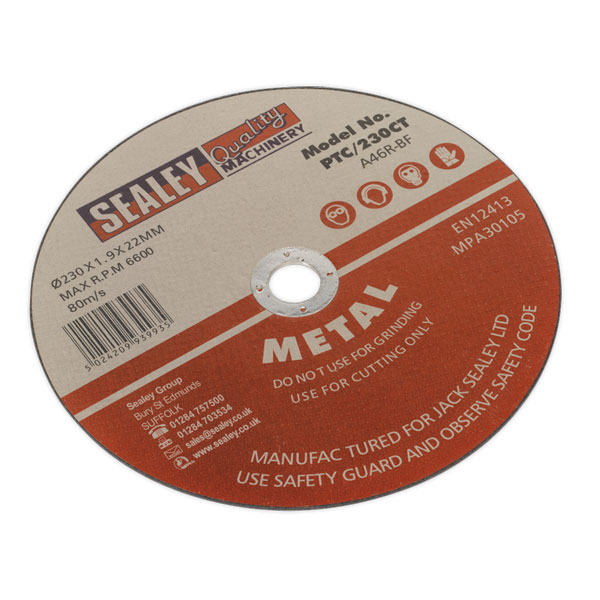 Sealey PTC/230CT Cutting Disc 230 x 1.9 x 22mm