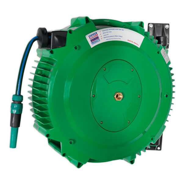 Sealey RGH18 Retractable Water Hose Reel 18mtr 12mm ID PVC Hose