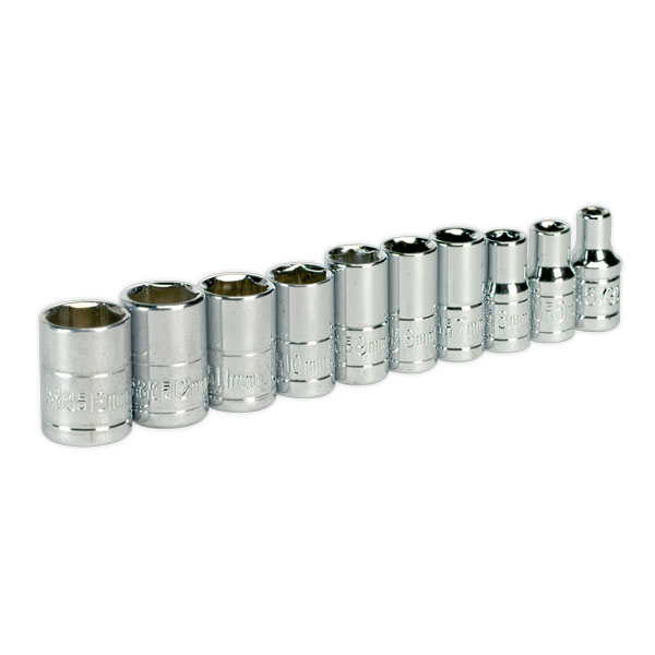 "Siegen S0497 Socket Set 10pc 1/4""Sq Drive Metric"