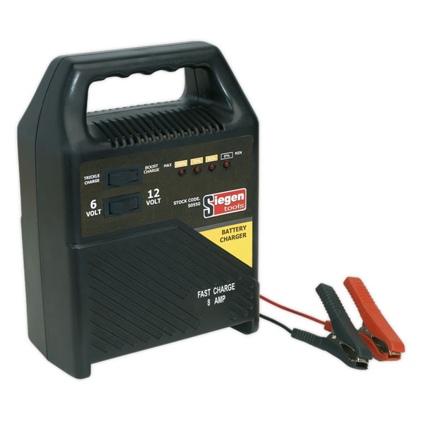 Siegen S0550 Battery Charger 6/12V 8Amp 230V