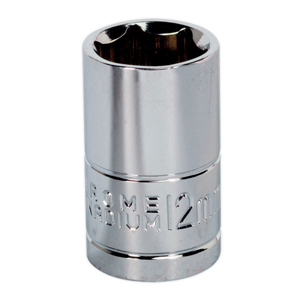 "Siegen S0579 WallDrive Socket 12mm 3/8""Sq Drive"