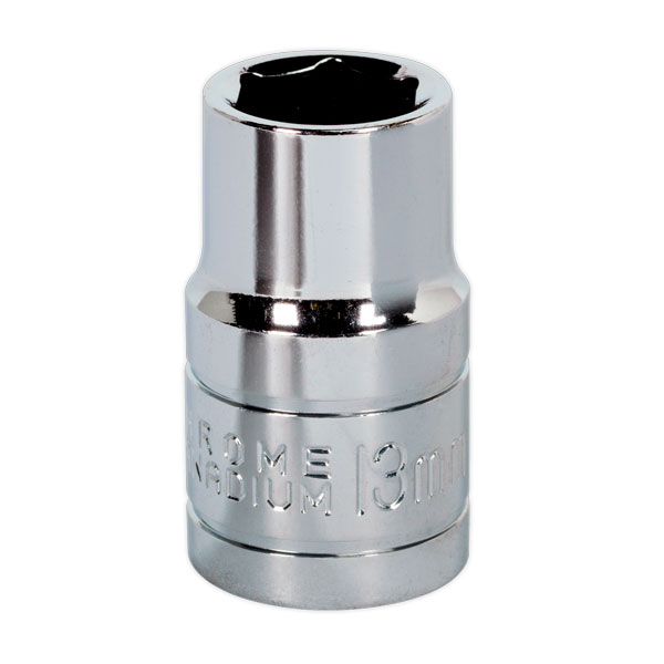 "Siegen S0651 WallDrive Socket 13mm 1/2""Sq Drive"