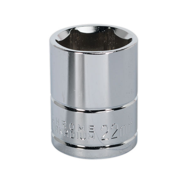 "Siegen S0659 WallDrive Socket 22mm 1/2""Sq Drive"