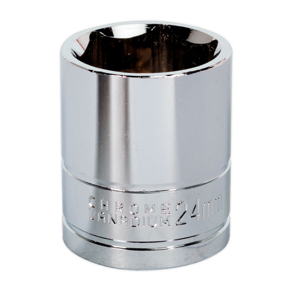 "Siegen S0661 WallDrive Socket 24mm 1/2""Sq Drive"