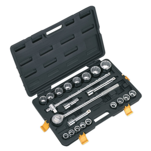 "Siegen S0712 Socket Set 22pc 3/4""Sq Drive Metric"