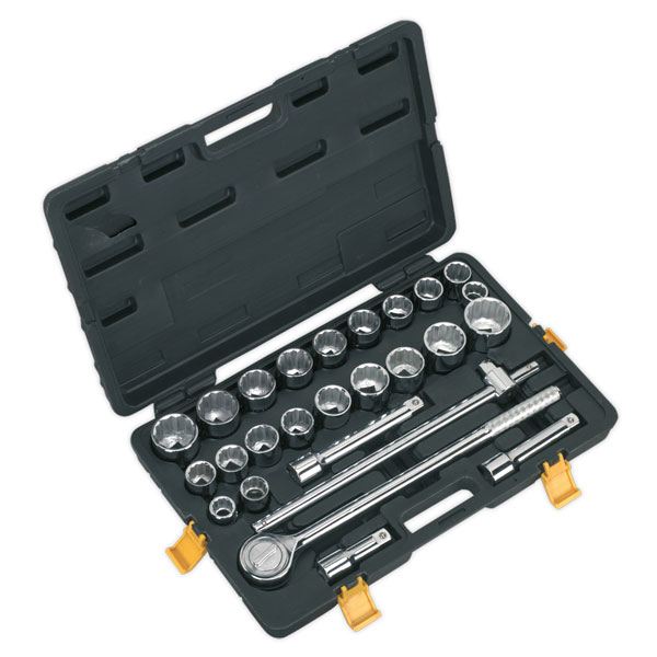 "Siegen S0713 Socket Set 26pc 3/4""Sq Drive Metric/Imperial"