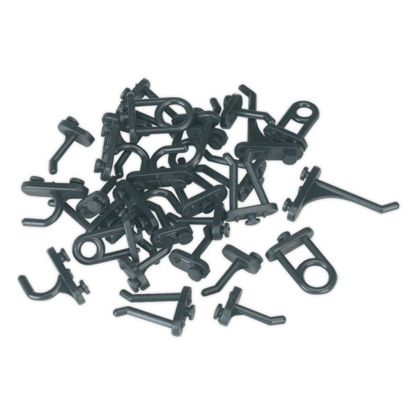 Siegen S0766 Hook Assortment for Composite Pegboard 30pc