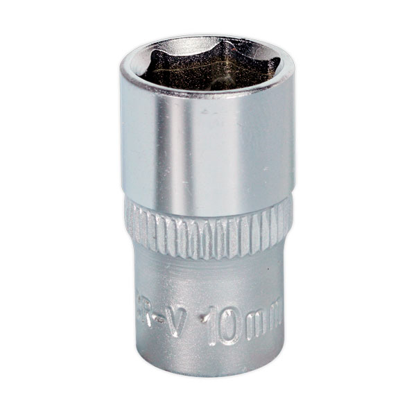 "Sealey S1410 WallDrive Socket 10mm 1/4""Sq Drive"