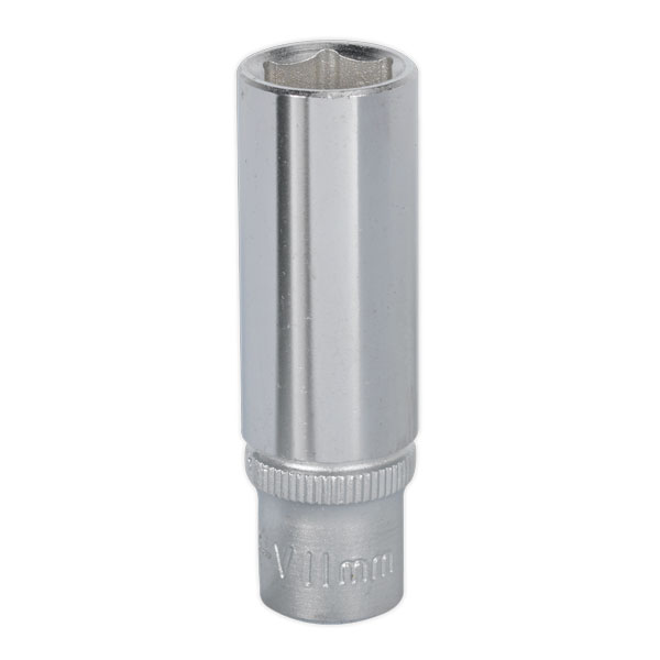 "Sealey S1411D WallDrive Socket 11mm Deep 1/4""Sq Drive"